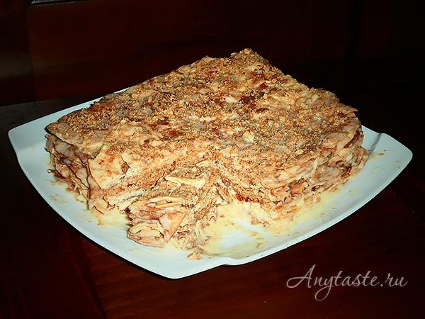 торт наполеон со сгущёнкой пошаговый рецепт