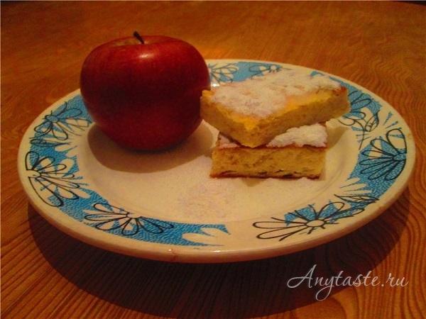 Творожная запеканка с яблоками
