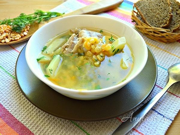 как приготовить гороховый суп с курицей рецепт пошаговый с фото