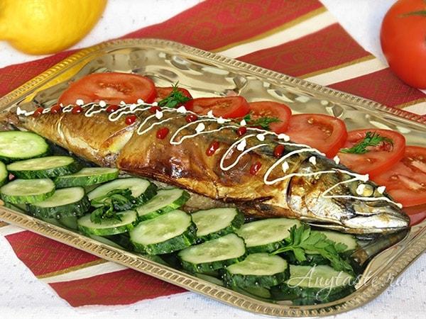 скумбрия запеченная в духовке рецепт с пошаговым фото