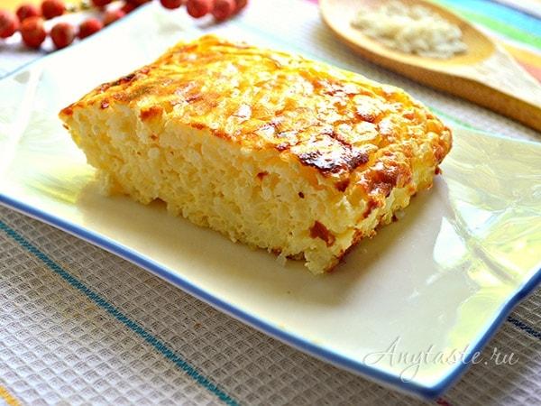 Творожно-рисовая запеканка как в садике рецепты