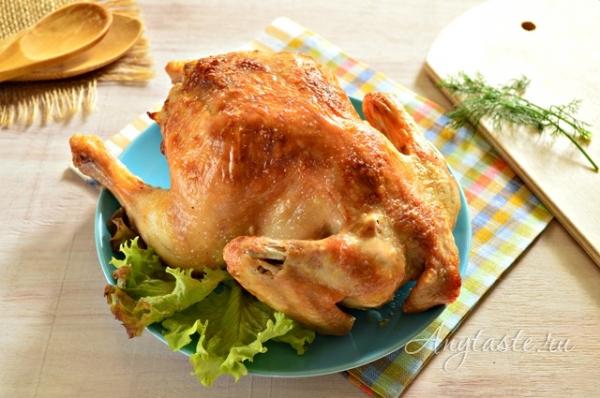 Курица в духовке с хрустящей корочкой с картошкой рецепт пошагово в