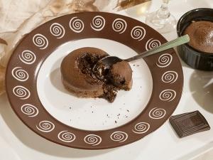 Шоколадные маффины с жидкой начинкой