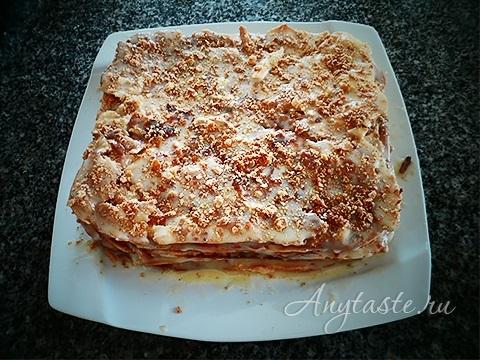 Торт наполеон со сгущенным кремом