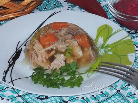 Рецепт холодца из ножки свиной