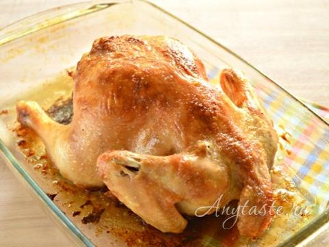 Рецепт из целой курицы рецепт с пошагово в духовке